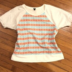 J. Crew Tops - J. Crew Tribal Print Top Size XL
